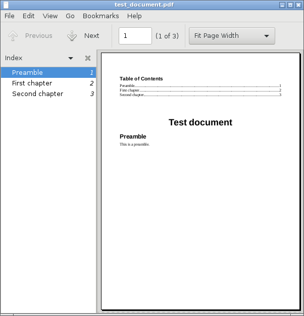 PDF outline side pane in Atril